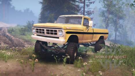 Ford F-200 1968 saddle tan for Spin Tires