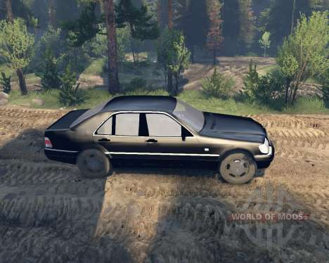 Mercedes W140 for Spin Tires