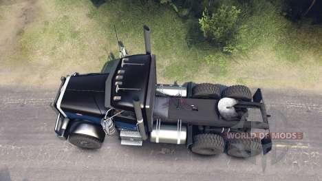 Peterbilt 379 black blue for Spin Tires