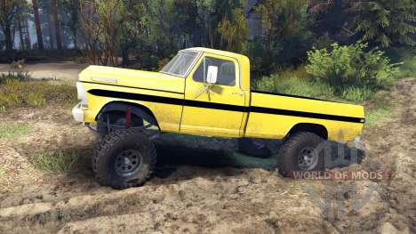 Ford F-200 1968 yellow for Spin Tires