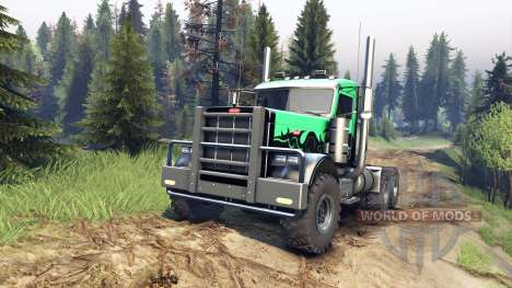 Peterbilt 379 v1.1 green and black for Spin Tires