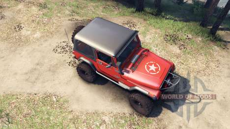 Jeep YJ 1987 orange for Spin Tires
