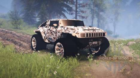Hummer HX for Spin Tires