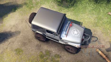 Jeep YJ 1987 silver for Spin Tires