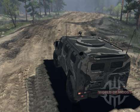 GAS 2974 Tiger for Spin Tires