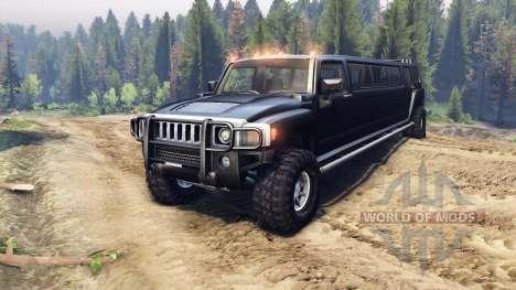 Hummer H3 Limousine for Spin Tires