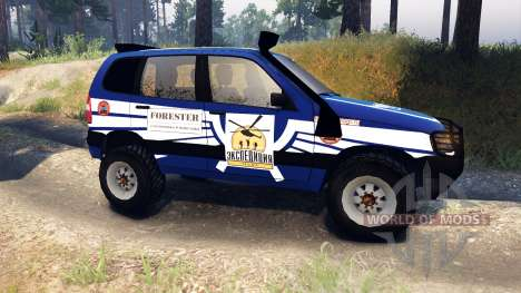 ВАЗ-21236 Chevrolet Niva blue for Spin Tires