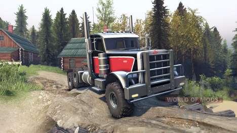 Peterbilt 379 v1.1 red black for Spin Tires