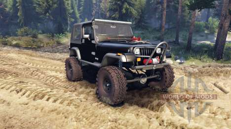 Jeep YJ 1987 black for Spin Tires