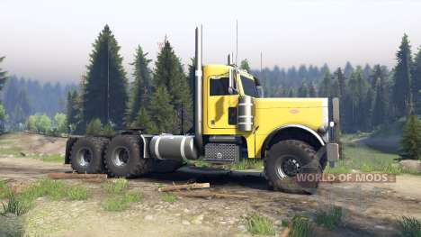 Peterbilt 379 yellow for Spin Tires