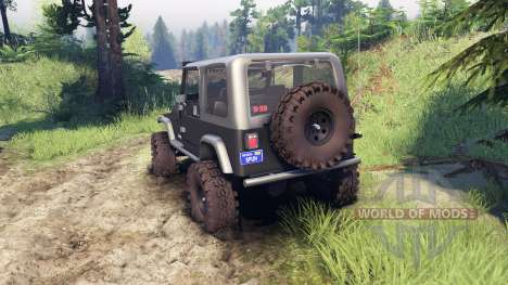 Jeep YJ 1987 gray for Spin Tires