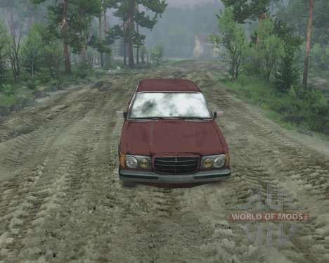 Mercedes W123D for Spin Tires