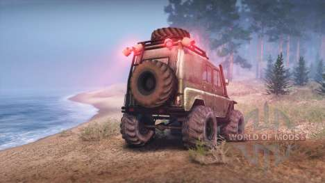 UAZ-469 Turbo for Spin Tires