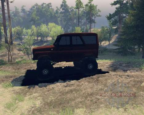 UAZ hunter for Spin Tires