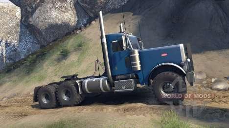 Peterbilt 379 v1.1 light blue for Spin Tires