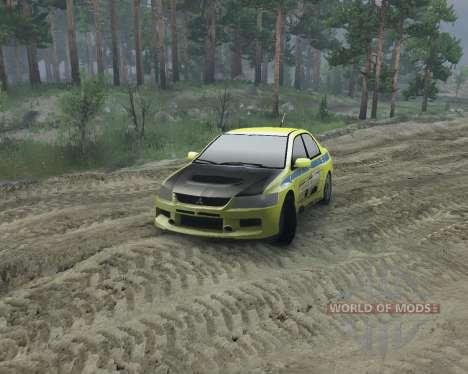 Mitsubishi Evolution for Spin Tires