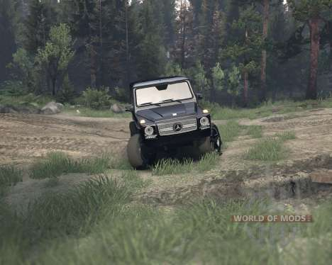 Mercedes G65 4x4 for Spin Tires