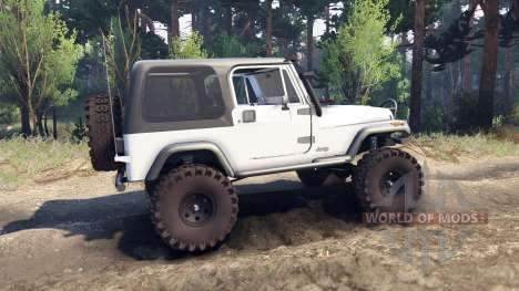 Jeep YJ 1987 white for Spin Tires