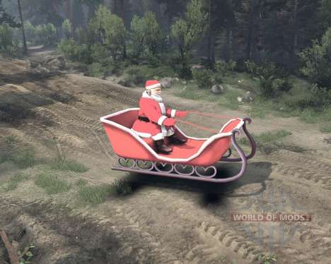 Santa on sleigh for Spin Tires