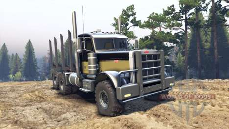 Peterbilt 379 black and green for Spin Tires