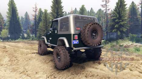 Jeep YJ 1987 dark green for Spin Tires