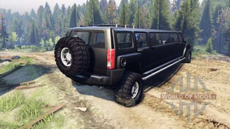 Hummer H3 Limousine for Spin Tires