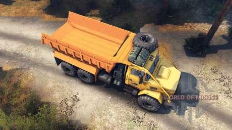 KrAZ-6322 v3.0 yellow for Spin Tires