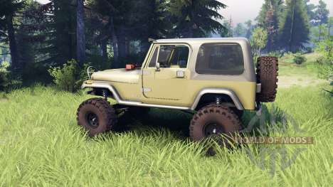 Jeep YJ 1987 green for Spin Tires