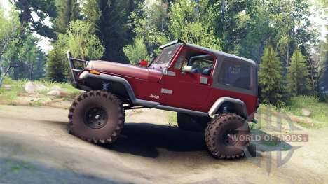 Jeep YJ 1987 maroon for Spin Tires