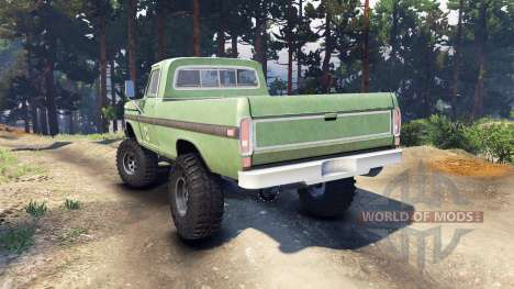 Ford F-200 1968 forest ranger for Spin Tires
