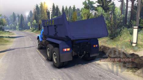 KrAZ-6322 v3.0 blue for Spin Tires
