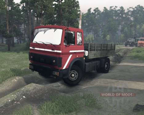 MAZ-54322 for Spin Tires