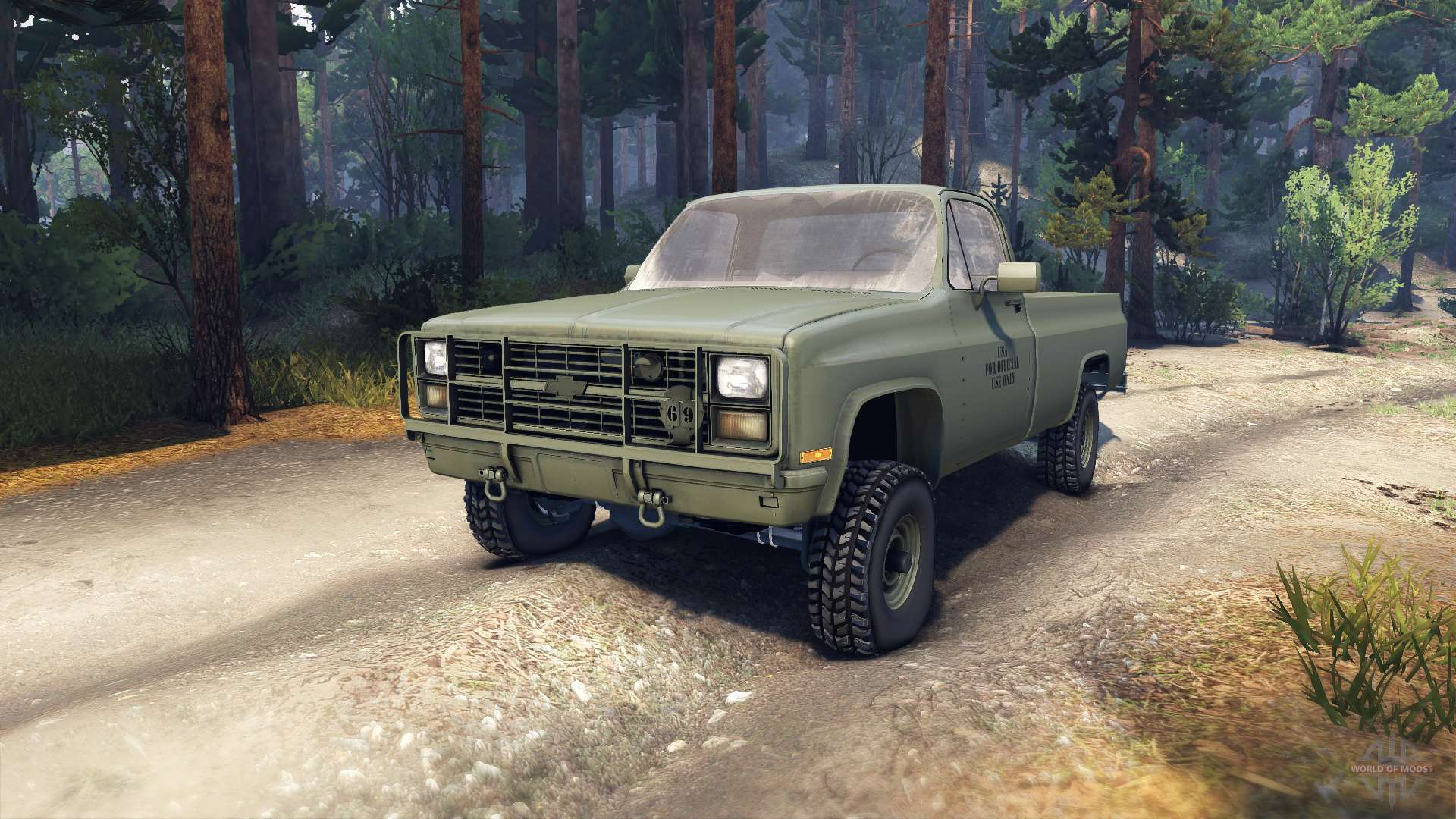 Chevrolet Eclipse CUCV M1008 for Spin Tires