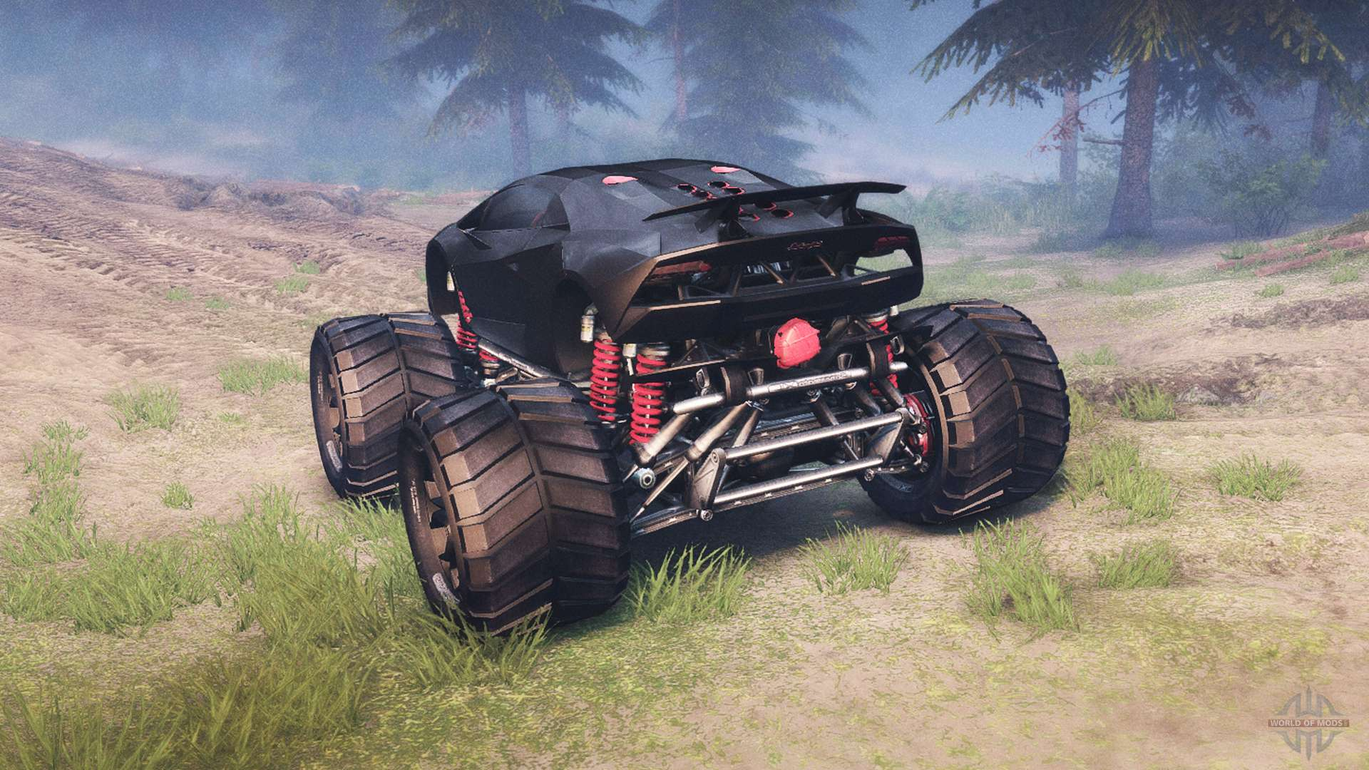 Lamborghini Sesto Elemento Monster Truck For Spin Tires