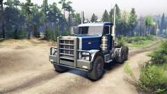 Peterbilt 379 dark blue