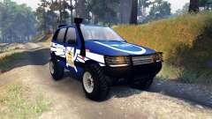 ВАЗ-21236 Chevrolet Niva blue for Spin Tires