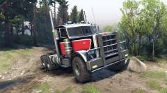 Peterbilt 379 red black