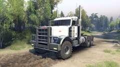 Peterbilt 379 white for Spin Tires