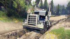 Peterbilt 379 v1.1 black blue for Spin Tires