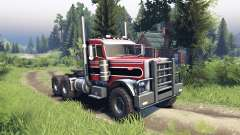 Peterbilt 379 red and black stripe