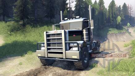 Peterbilt 379 v1.1 black and green for Spin Tires