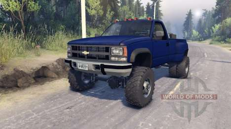 Chevrolet Regular Cab Dually blue for Spin Tires