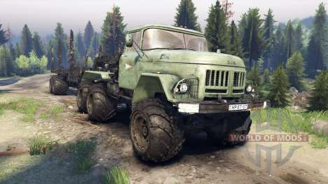 ЗиЛ-137 trailer log for Spin Tires