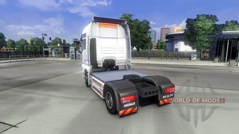 Skin Schwertransport on the truck MAN for Euro Truck Simulator 2