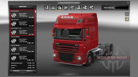 Motors for DAF truck for Euro Truck Simulator 2