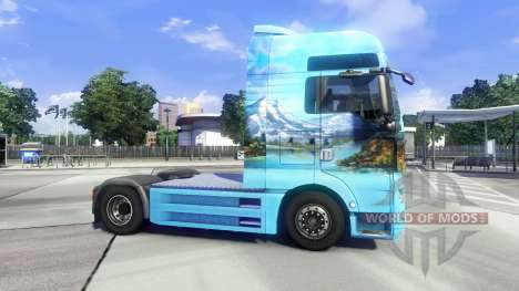 Skin Showtruck Landscape on the truck MAN for Euro Truck Simulator 2