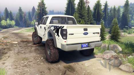 Ford Raptor SVT v1.2 factory terrain for Spin Tires