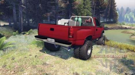 Chevrolet Regular Cab Dually red for Spin Tires