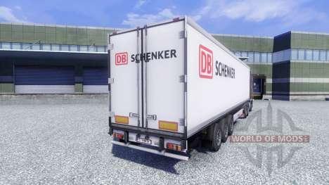 Skin DB Schenker on the trailer for Euro Truck Simulator 2