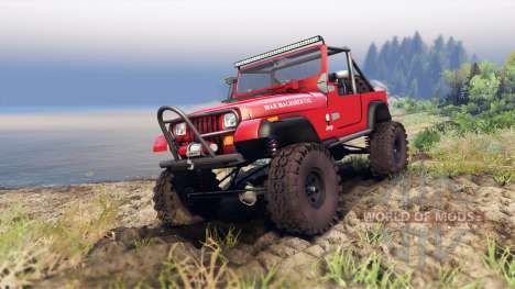 Jeep YJ 1987 Open Top red for Spin Tires